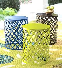 good small patio side table for brown all weather wicker round tables