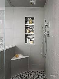small shower corner bench