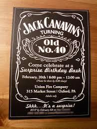 40th Birthday Invitations Free Templates Jack Daniel 40th Birthday Invitations For Man Free