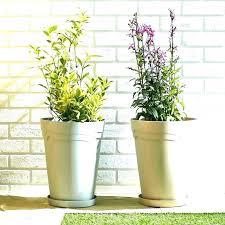 metal planter pot garden tin box iron flower hanging round wall vintage basket uk