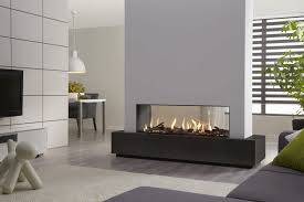 gas fireplace contemporary closed hearth double sided dru metro 130xt tunnel dru