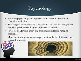 top psychology research paper topics psychology • research