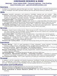 Resume Categories Wonderful 8718 HireMaker Resumes More Resume Service For Tampa Orlando