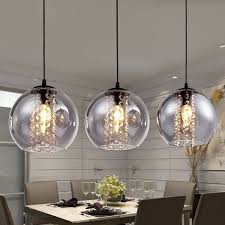modern glass ball crystal chandelier pendant light pl167