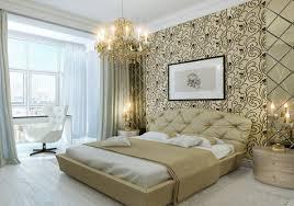 Master Schlafzimmer Wand Dekor Ideen Bett Luxus Kronleuchter Aus