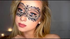 lace masquerade mask tutorial makeup