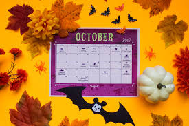 October 2017 Printable Calendar Disney Family