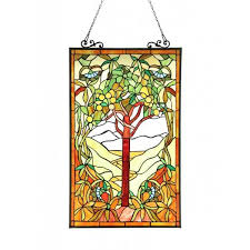 chloe tiffany style tree of life stained glass panel free today 8459727