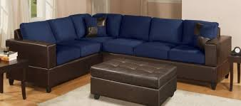 navy blue leather sectional sofa f7637 navy blue sectional sofa set by poundex