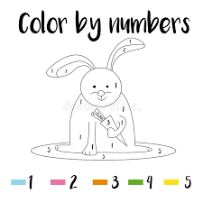 Here's a collection of 20 simple, fun and playful colour themed activities for preschoolers to enjoy! Coloring Page Color By Numbers Educational Children Game Drawing Kids Activity Printable Sheet Animals Theme Stock Vector Illustration Of Book Digits 170850958