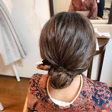 Moriyama Mamiさんのヘアスタイル ミディアムヘアアップスタイル