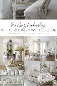 White furniture decor Mens Bedroom White Rooms White Decor White Furniture All White Rooms Follow The Yellow Brick Home Follow The Yellow Brick Home Pin Away Wednesdays White Rooms And