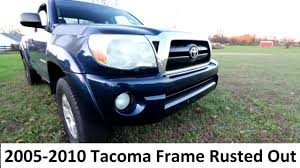 My 2005 Tacoma Frame Has Rust = Brand New Frame For Free? - YouTube