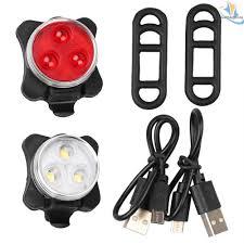 WATERPROOF BRIGHT <b>5 LED BIKE</b> BICYCLE HEAD & REAR ...