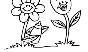 Disegno Di Fiori Di Primavera A Colori Per Bambini Con Disegni