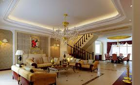 Gypsum board ceiling for classic interior design, Classic Italian interior,  gypsum molding