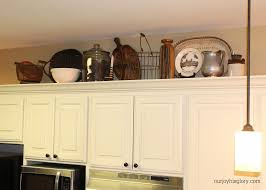 Over Cabinet Decor Kitchen Decorating Above Kitchen Cabinets With Kitchen Over