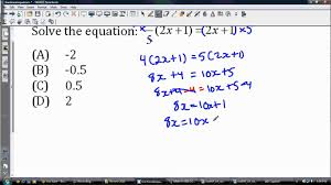 solving linear equations with fractions