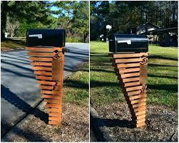 mailbox post design ideas. Mail Box Post Ideas Mailbox Design Mesmerizing Wooden  With Mailbox Post Design Ideas