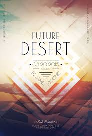 poster psd future desert flyer template download psd file 6 party poster