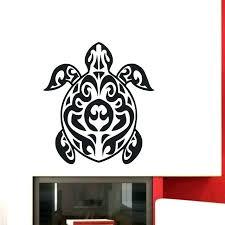 sea turtle wall decal plus tribal tortoise stickers bathroom vinyl art mural design ocean animals decals sea turtle wall decal