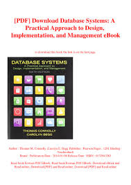 Database Systems Design Implementation And Management 6th Edition Pdf Pdf Download Database Systems A Practical Approach To