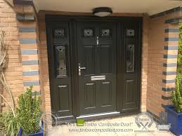 Bespoke Front Doors Composite With Glass Side Panels Prehung Entry