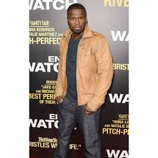 50 cent tan brown leather jacket