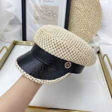 Straw hollow stitching navy hat summer thin style breathable ... - Vova