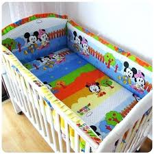 mickey mouse crib bedding sets baby cot set sheets clubhouse minnie 5 pieces