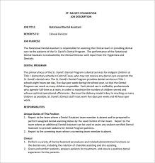 job description for a dentist 9 dental assistant job description templates free sample example