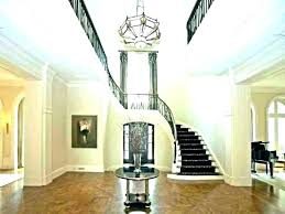 two story foyer lighting 2 chandelier size