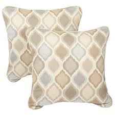 beige throw pillows. Modren Beige Shop Beige Grey Indoor Outdoor Ogee Corded Square Throw Pillows With  Sunbrella Fabric Set Of 2  On Sale Free Shipping Today Overstockcom 8701395 Throughout Beige K