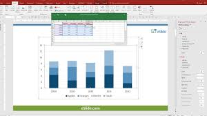 Ppt Design Tip Stacked Bar Chart Totals Based On Real Data