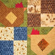 Quilt Inspiration: Free Pattern Day: Chickens & Cat's Rooster, free pattern by Jennifer Ofenstein at Sew Hooked Adamdwight.com