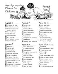 Chore Chart Staples Chores By Age Age Appropriate Chores For Kids Age