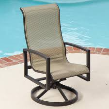 Exterior Light Brown Polished Metal Swivel Chair Decor With