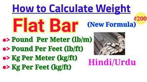 Ms Flat Patti Weight Chart Formula Of Weight Calculation Of Flat Bar How To Calculate Weight Of Flat Bar Ms Flat Bar Wt