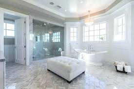 glass bathroom design gorgeous master bathroom with cast iron bathtub and glass shower glass mosaic tile bathroom design