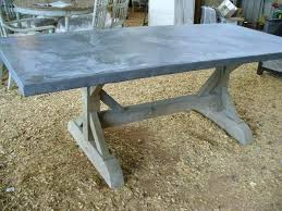zinc top table pic zinc top round kitchen table