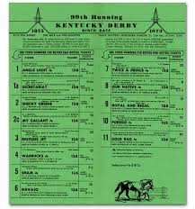 Kentucky Derby Race Chart Kentucky Derby Secretariat Com