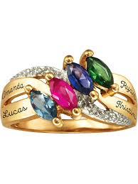 <b>Personalized</b> Family JewelryBirthstone Lustre Mother's <b>Ring</b> ...