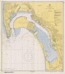 Historical Nautical Chart 5107_9 1948 San Diego Bay