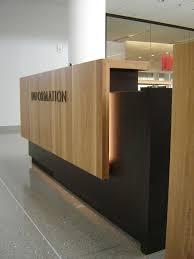 two piece reception desk wood