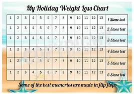 Holiday Weight Loss Chart 6 Stone 1 Sheet Of Stickers