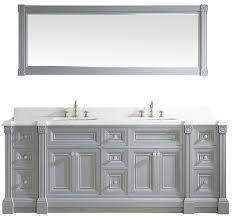 84 inch gray finish double sink vanity jpg