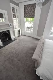 dark grey carpet. Elegant Cream And Grey Styled Bedroom. Carpet By Bowloom Ltd. Dark