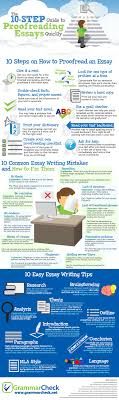 10 Steps To Writing An Essay The 10 Step Guide To Proofreading Essays Quickly Infographic