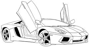 Printable Ferrari Coloring Pages For Kids