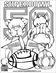 Small Picture Free Coloring Pages Superbowl 50 Angry Squirrel Studio